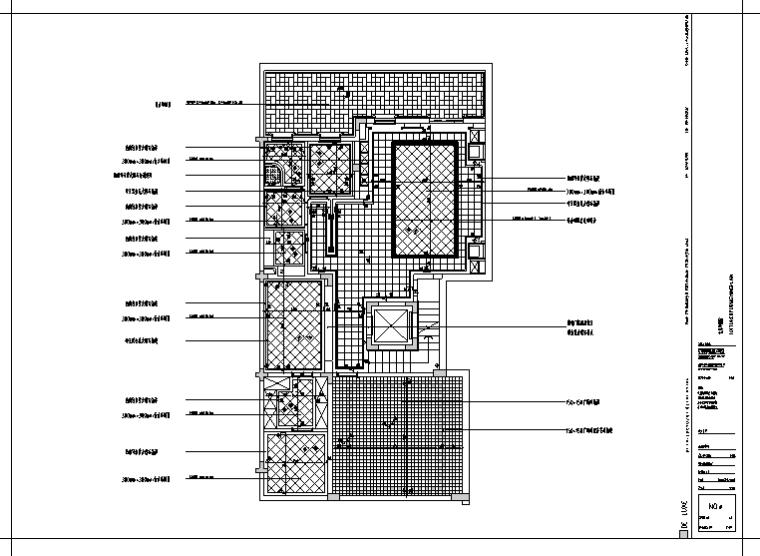 某二层小型别墅室内装修设计施工图纸(46张)