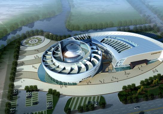 安徽博物馆施工图含室外总体(强弱电,建筑结构给排水)