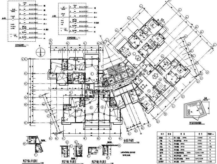 南方高层商住楼电气施工图