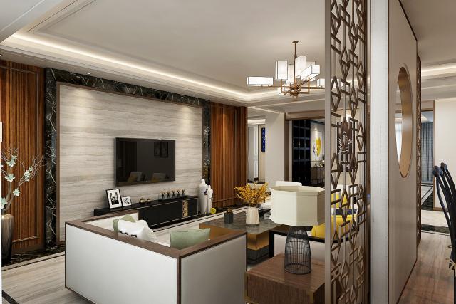 客厅 (2)-新中式风格第4张图片