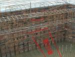 基础梁在三桩承台搭接