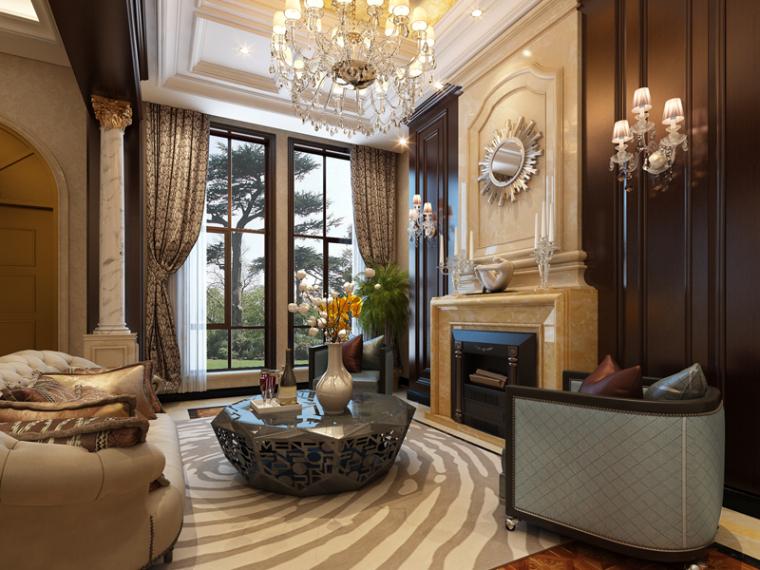 欧式奢华客厅