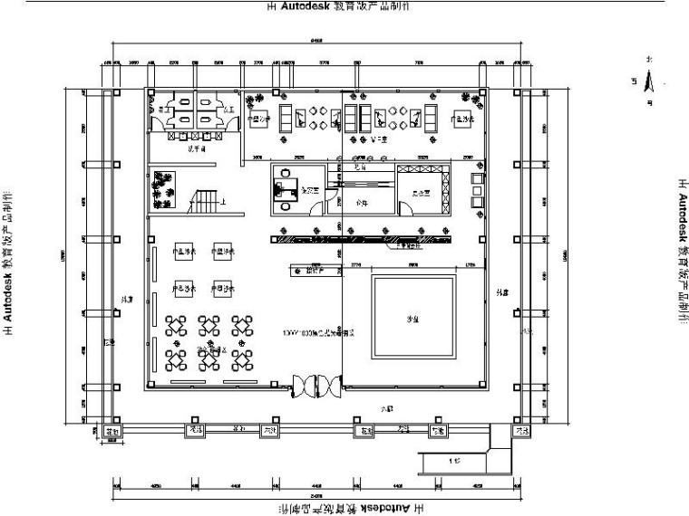 [绍兴]现代简约售楼厅室内设计施工图(含效果图)