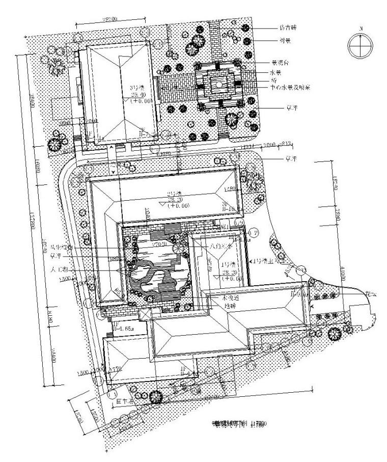 [山东]青岛某温泉大酒店全套施工图(附效果图)