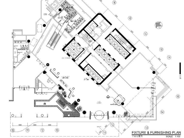 [广东]惠州CCD--富力万丽酒店公共区域CAD施工图(附效果图)