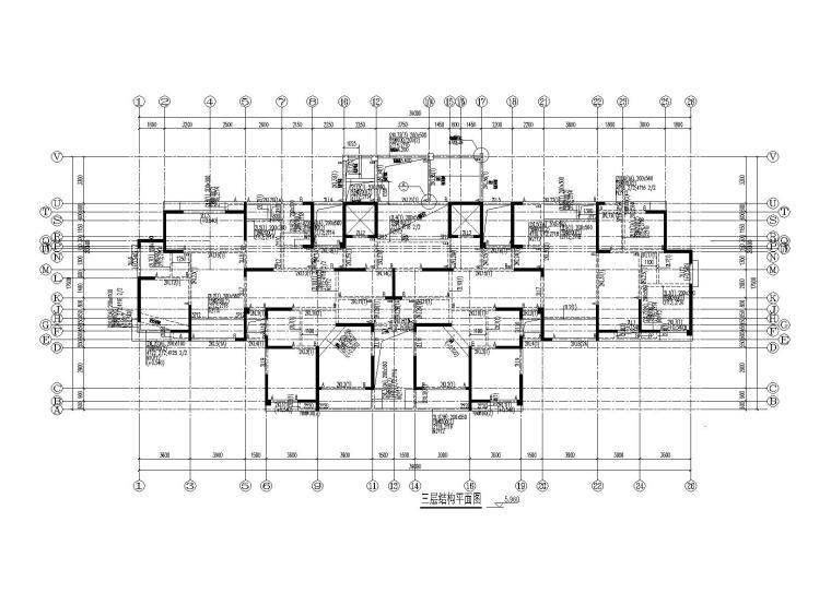 [上海]10栋框剪结构商品房住宅楼结构施工图
