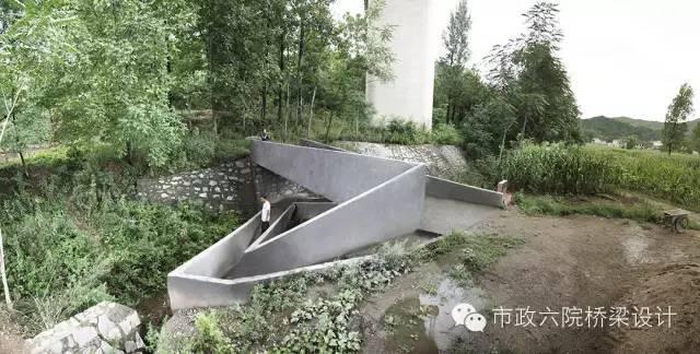 中国陕西岭子底便民桥