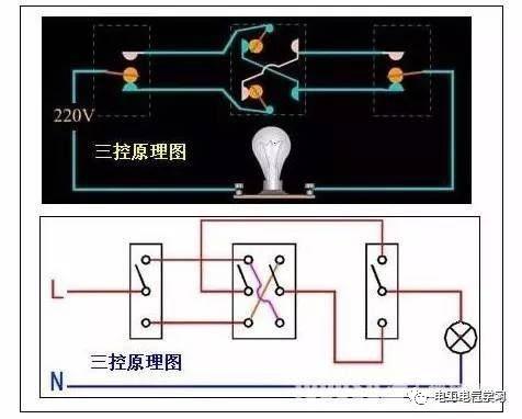 【电工必备】开关照明电机断路器接线图大全非常值得收藏!_16