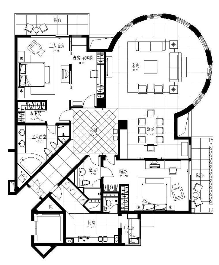 [上海]梁志天——伦敦广场样板间施工图设计附效果图