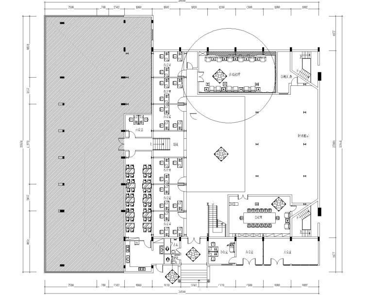 南京煌华影视投资有限公司办公室室内装修工程竣工图