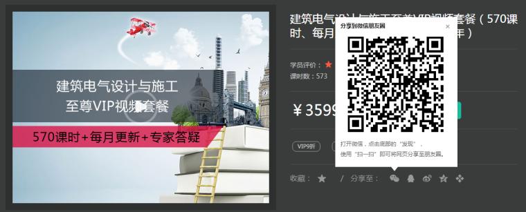 vip视频套餐资料下载-筑龙电气专业大课折扣专区!
