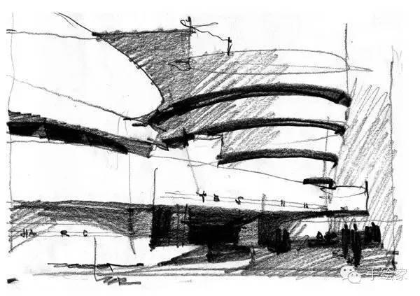 百年经典建筑设计手绘图_7
