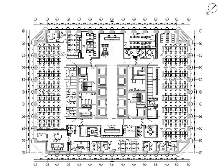 [广东]现代简约研究院办公室设计CAD施工图(含效果图)