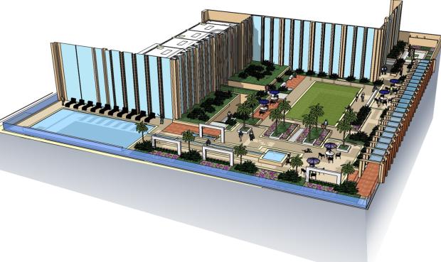 高层现代风格金茂深圳JW万豪酒店建筑设计方案文本
