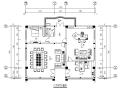某省委领导办公室设计CAD施工图(含效果图)
