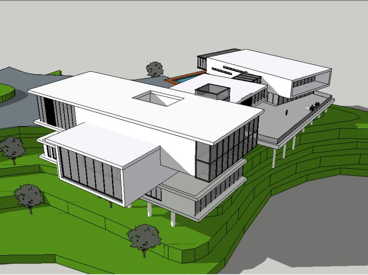 现代风格建筑会所模型设计