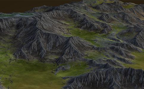 Sketchup VS WorldMachine高精度低面数真实地形建模视频教程