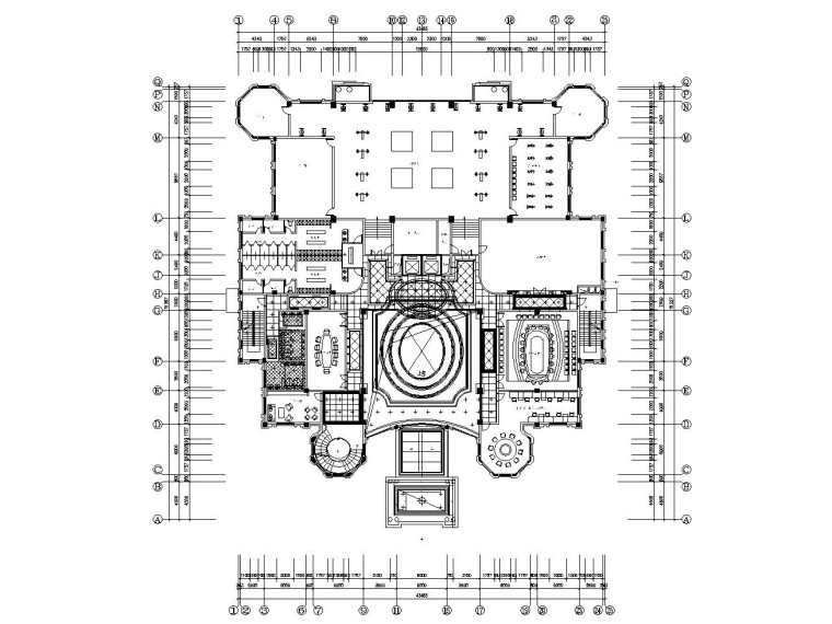 [连云港]某大型休闲会所室内装修全套施工图