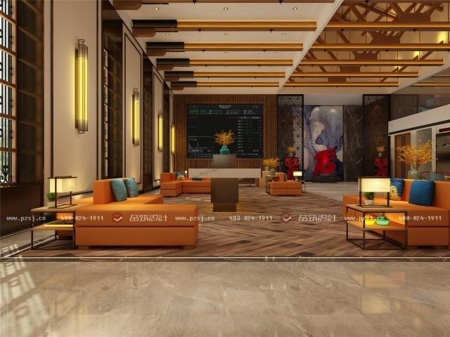 品筑出新作啦!内蒙古·兴安盟乌塔其银行室内设计效果图-06大厅.jpg