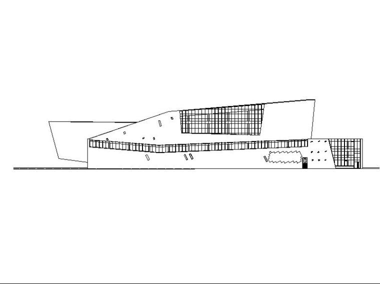[安徽]五层坡屋顶石材外墙博物馆建筑施工图(含工程做法说明)