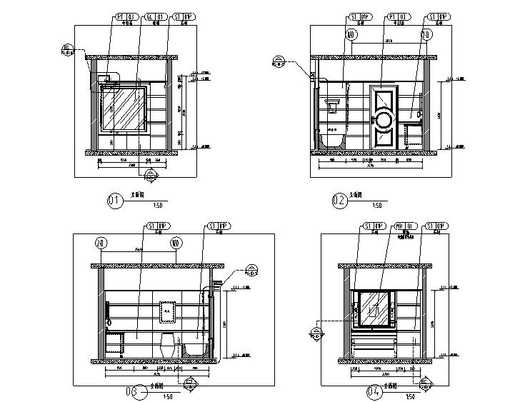 世代锦江国际酒店贵宾楼设计施工图(附效果图)-立面图