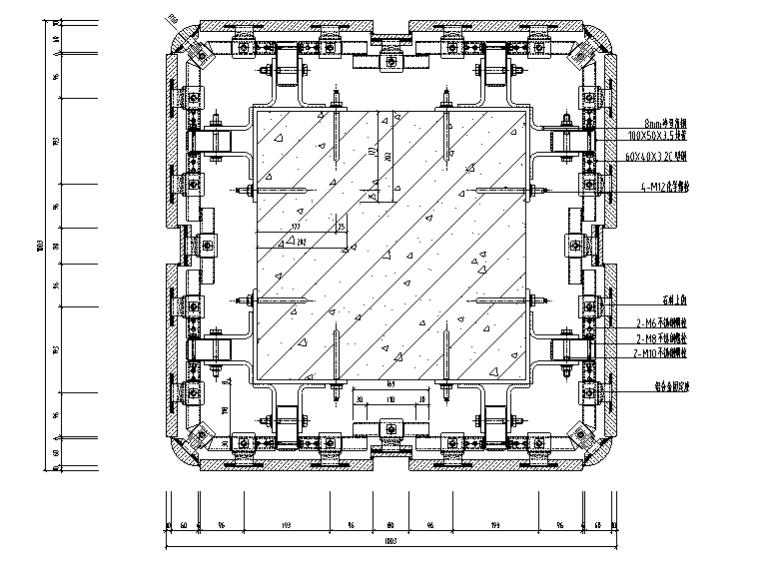石材柱详细CAD节点图