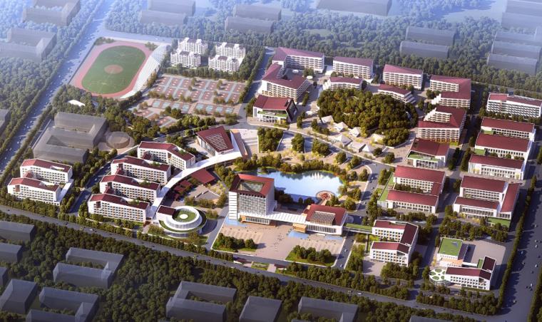 [山东]威海市职业中等专业学校建筑设计方案文本2