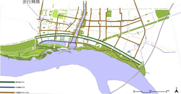 步行系统分析图