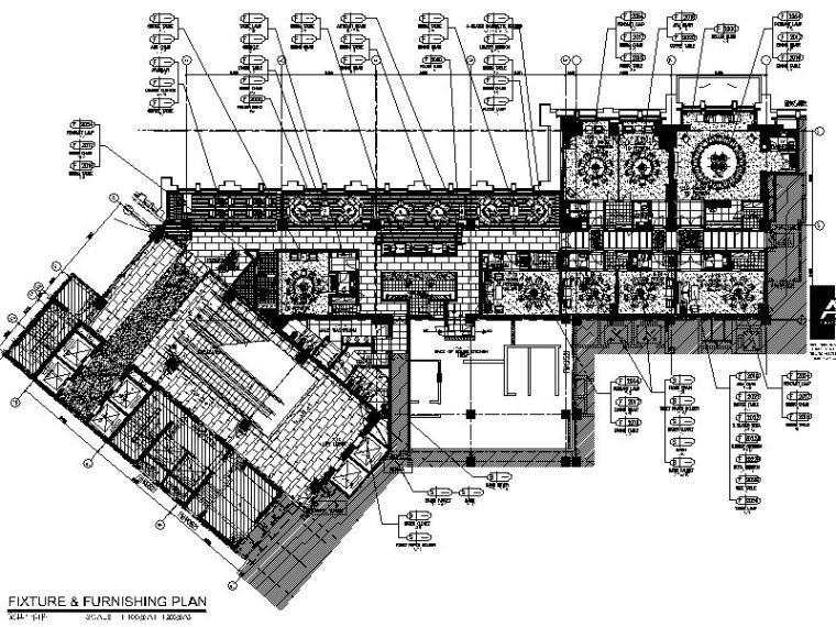 高档酒店设计平面施工图