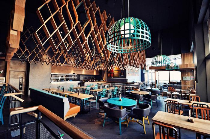 ins风格装修店面资料下载-南非阁楼风格的餐厅