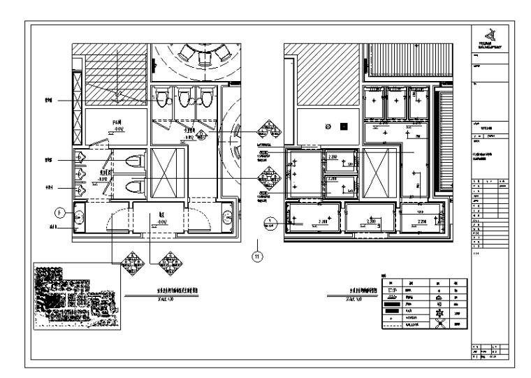 [上海]本帮菜餐饮室内装饰设计施工图(附效