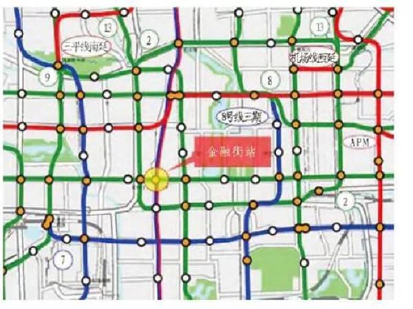 北京地铁金融街站与既有换乘站、规划车站换乘方案研究
