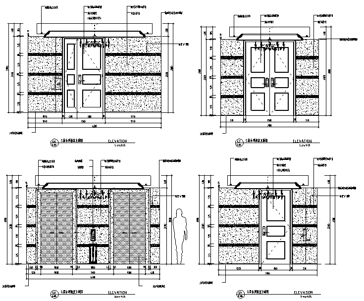 [江苏]现代奢华酒店设计施工图(附效果图+材料表)