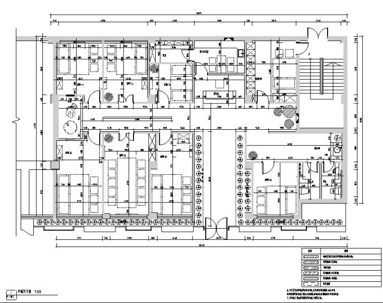 [新疆]竹林自然风茶室空间设计施工图(附效果图)_3