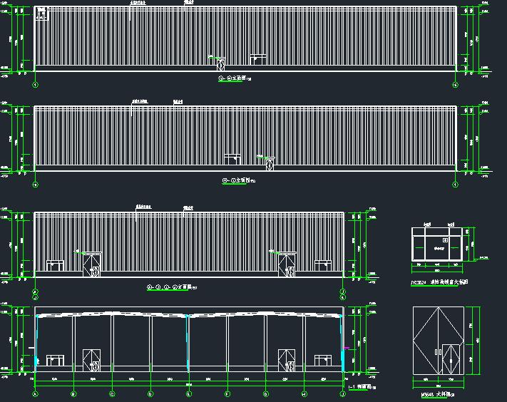 90mX66m门钢结构仓库(建筑、结构、电气、给排水)_1