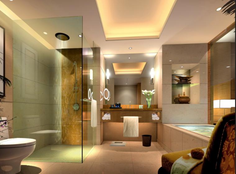 36000平米商务酒店设计施工图(附效果图+材料表)_7