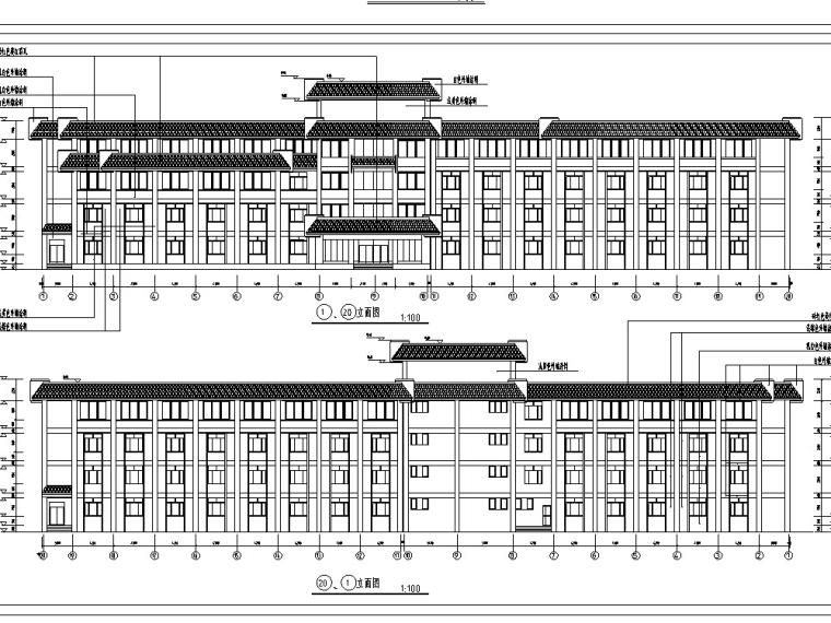 3套宾馆酒店建筑设计方案初设图CAD