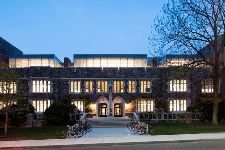 哥特式学术建筑普林斯顿大学校园外部夜景实景图 (3)