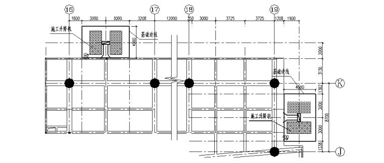[重庆]新闻传媒中心一期工程施工升降机基础及附着施工方案(附CAD图)