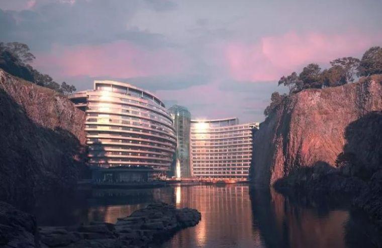 """中国再造""""世界建筑奇迹""""12年,砸10亿,这深坑酒店终于要开业了"""