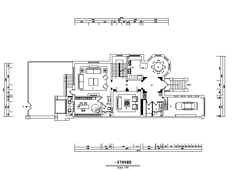 [河北]黑白极简风红山庄园别墅设计施工图(附效果图)