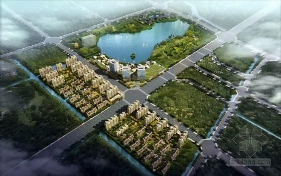 [江苏]精品复合型TBD城市空间景观规划设计方案-鸟瞰图