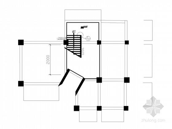 楼梯间改造加固施工图
