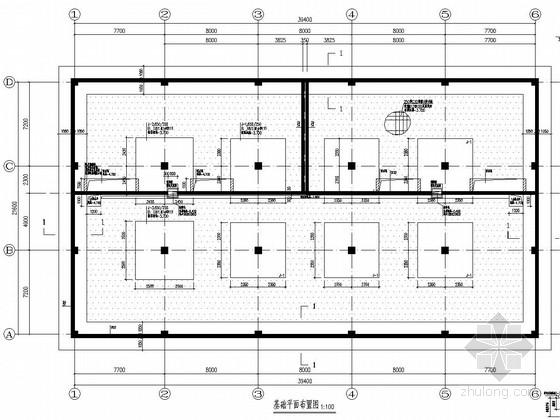 四层框架结构高技术产业化示范工程车间结构施工图