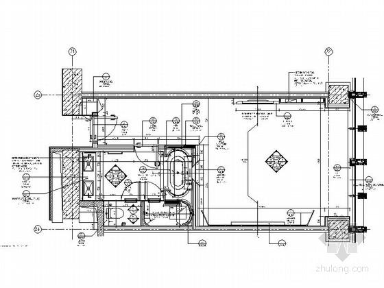 [天津]精品五星级酒店室内精装样板房CAD施工图