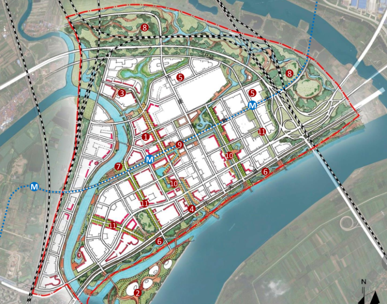 [湖北]武汉金茂谌家矶项目城市规划设计概念方案文本-AECOM