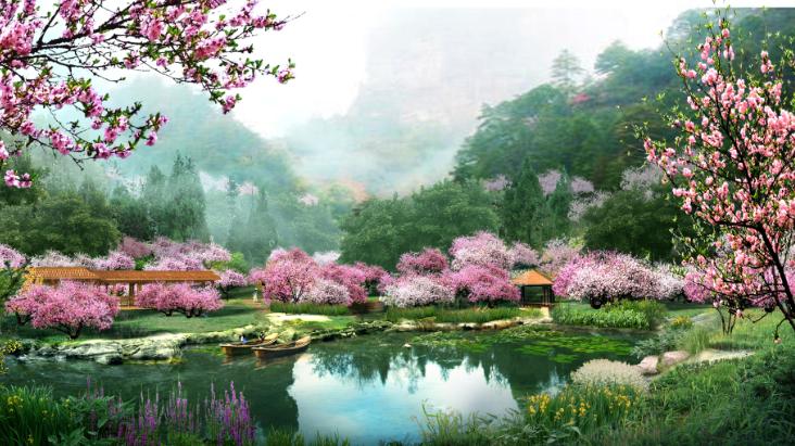 美丽乡村景观效果图PSD分层素材(10)