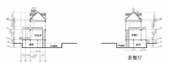[大连]英式风情小镇住宅小区及商业规划设计方案文本-英式风情小镇住宅区及商业规划剖面图