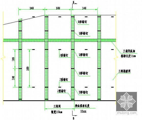 [重庆]某地块场平工程招标文件(含图纸)-坡面防护图(展开图)