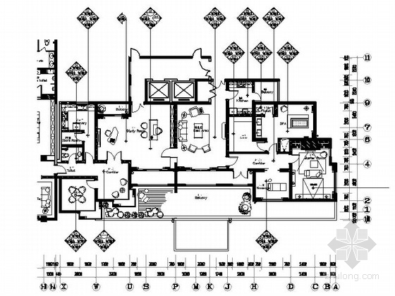[上海]奢华二层会所室内装修施工图(含方案文本)